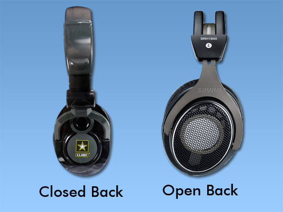 What Is closed-And open back headphones