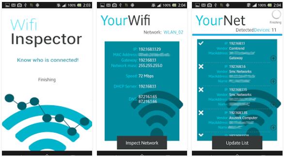 wifi inspect hacking app