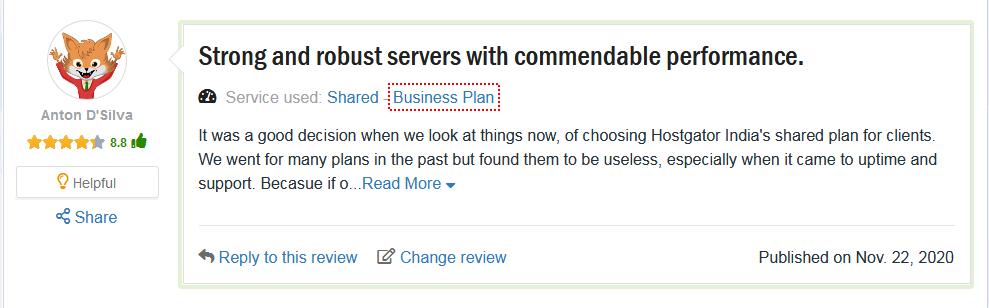 Customer Reviews HostGator