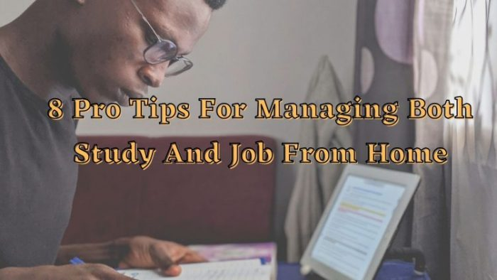 8 Pro Tips For Managing Both Study And Job From Home