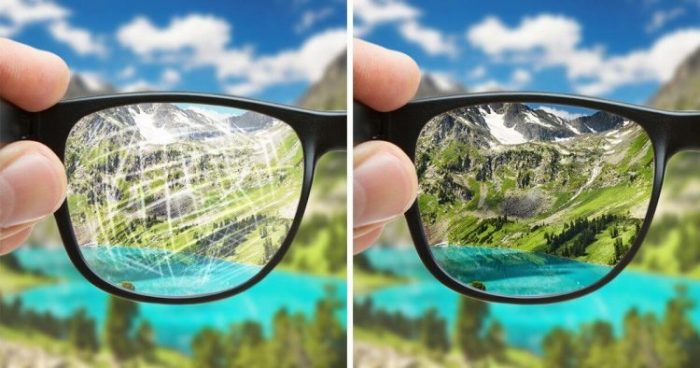 How to remove scratches from your eyeglasses?
